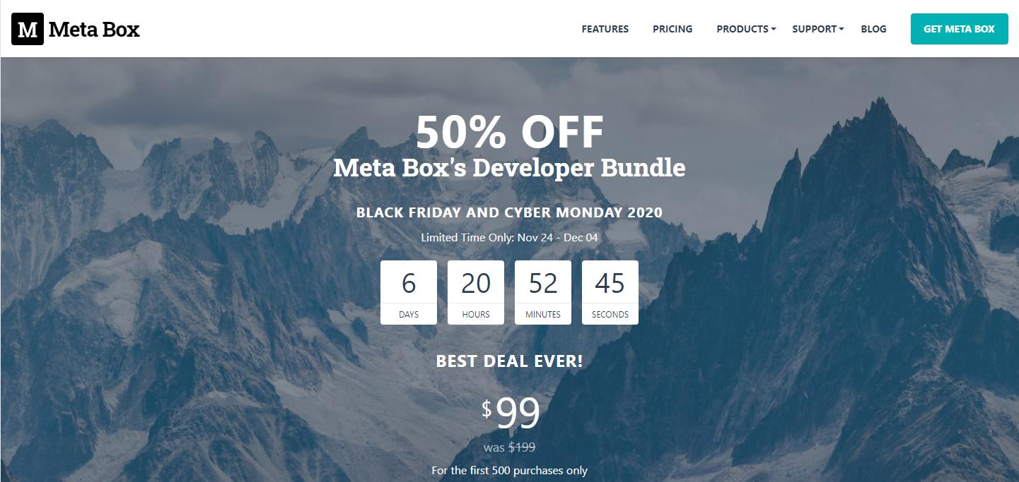 Meta Box Discount – 50% off