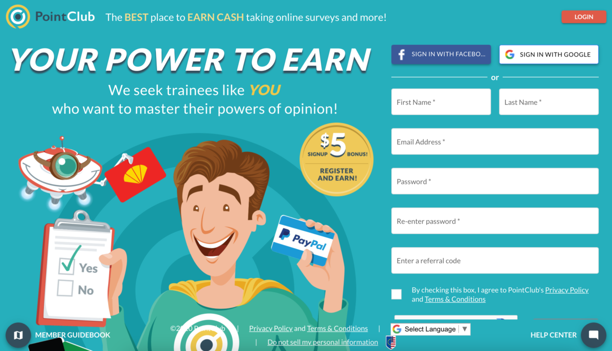 PointClub - Best Paying Survey Website