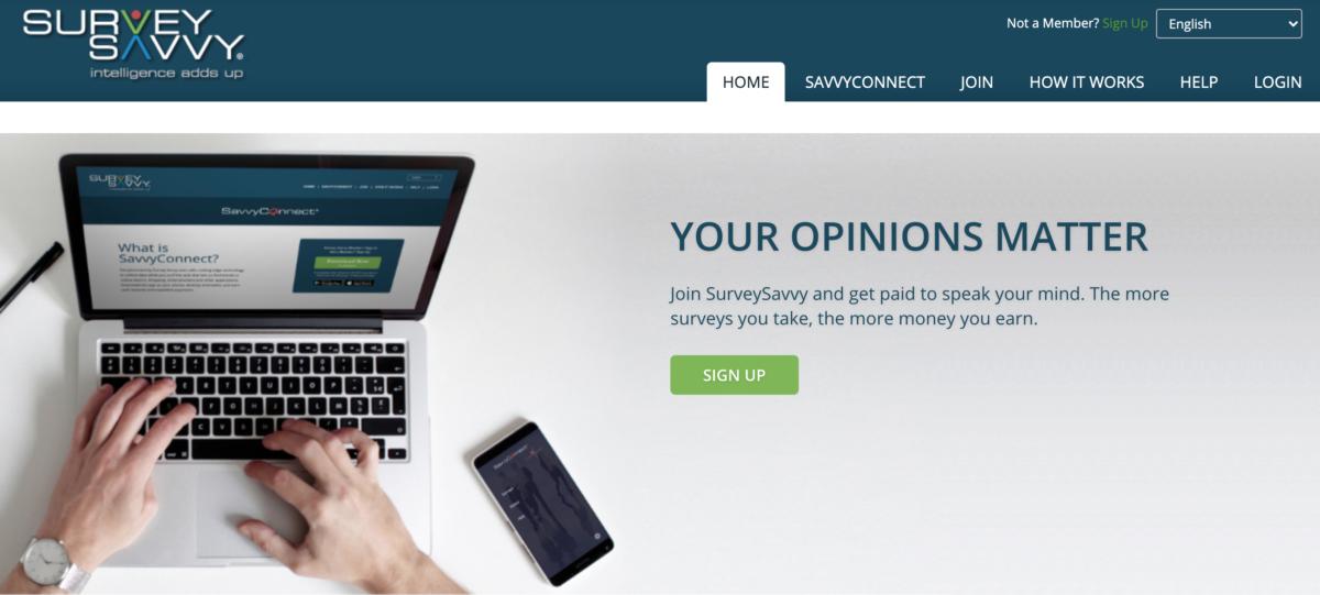 Best Paying Survey Website - SurveySavvy