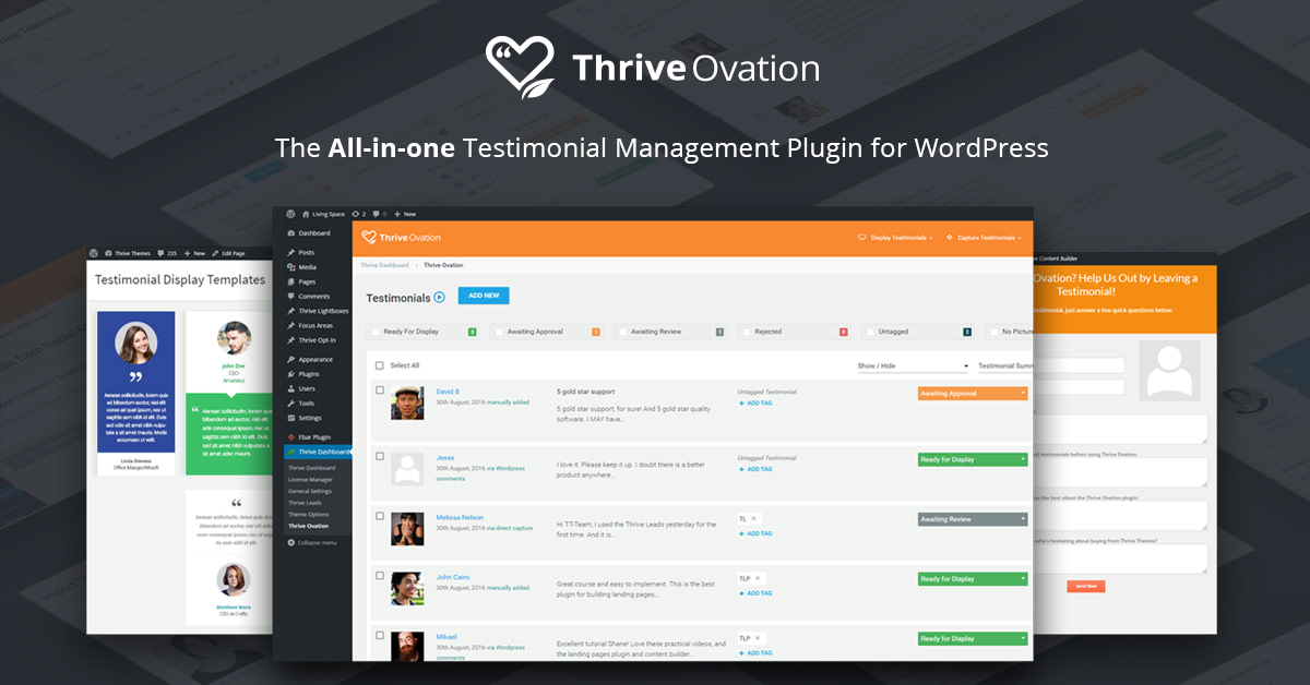 Thrive Ovation - Set and Forget Testimonial Plugin for WordPress