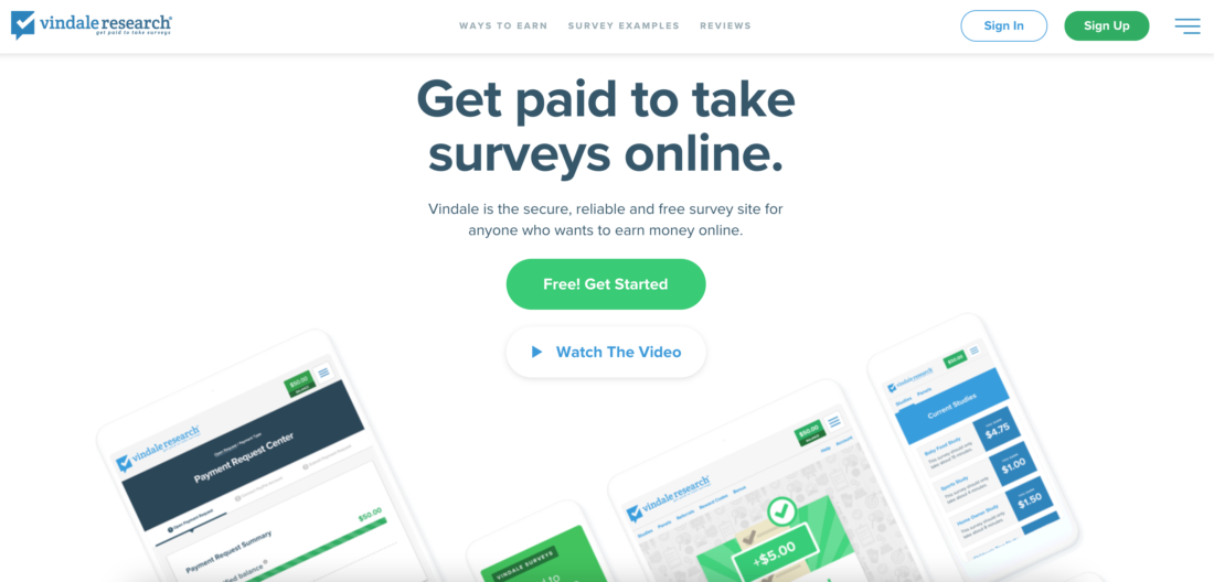 Paying Survey Websites - Vindale Research