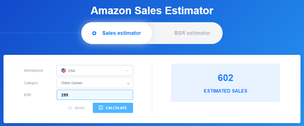 IO Scout Amazon Sales Estimator