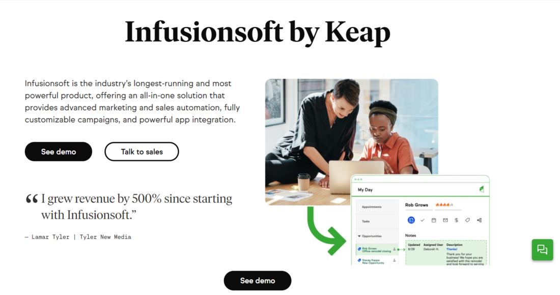 Infusionsoft by Keap - Marketing Automation Platform