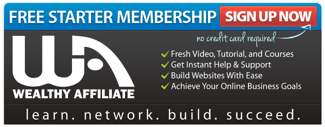 Start with a free Wealthy Affiliate account