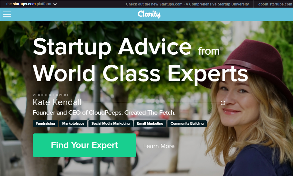 Clarity.fm - Signup and get paid for offering consultations