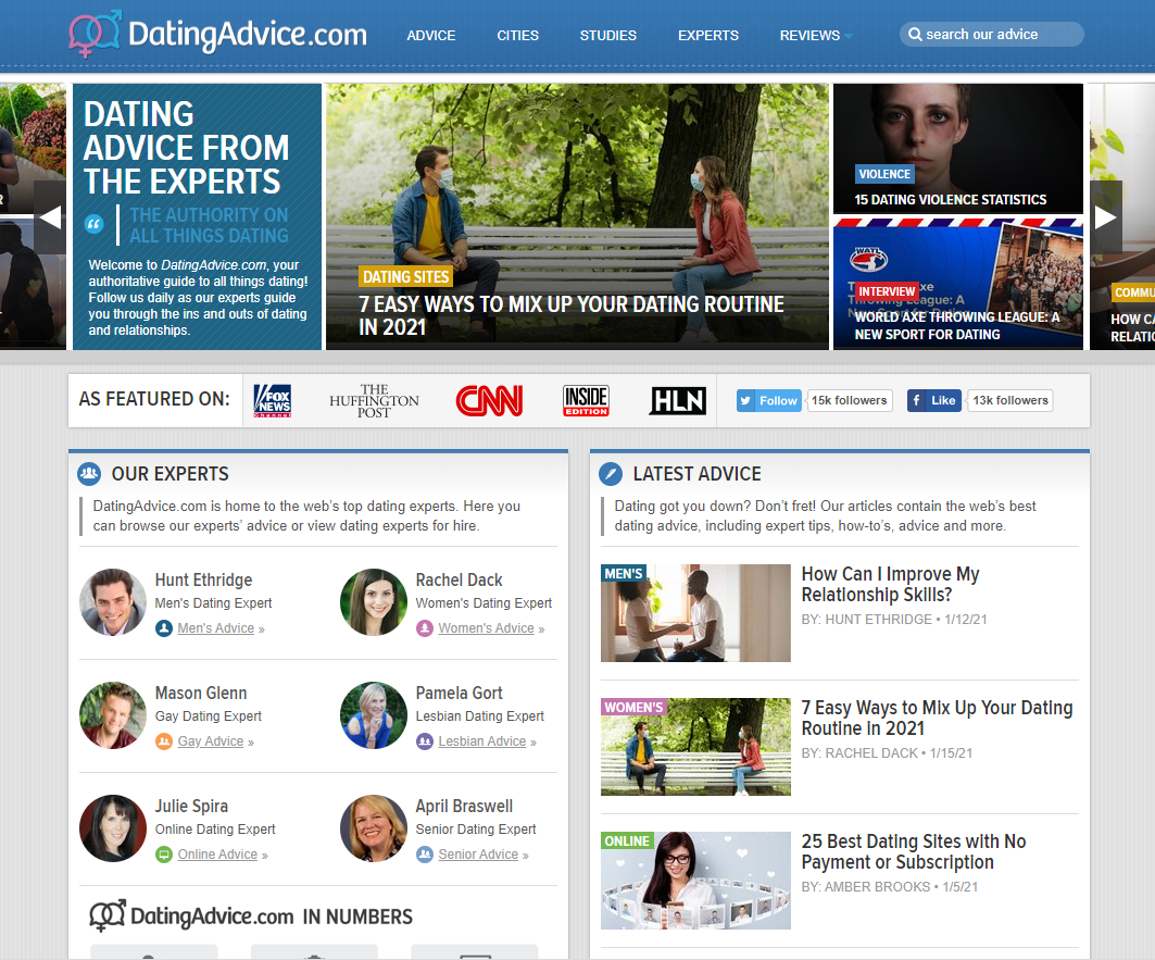 Dating Advice - Affiliate Marketing Blog Example