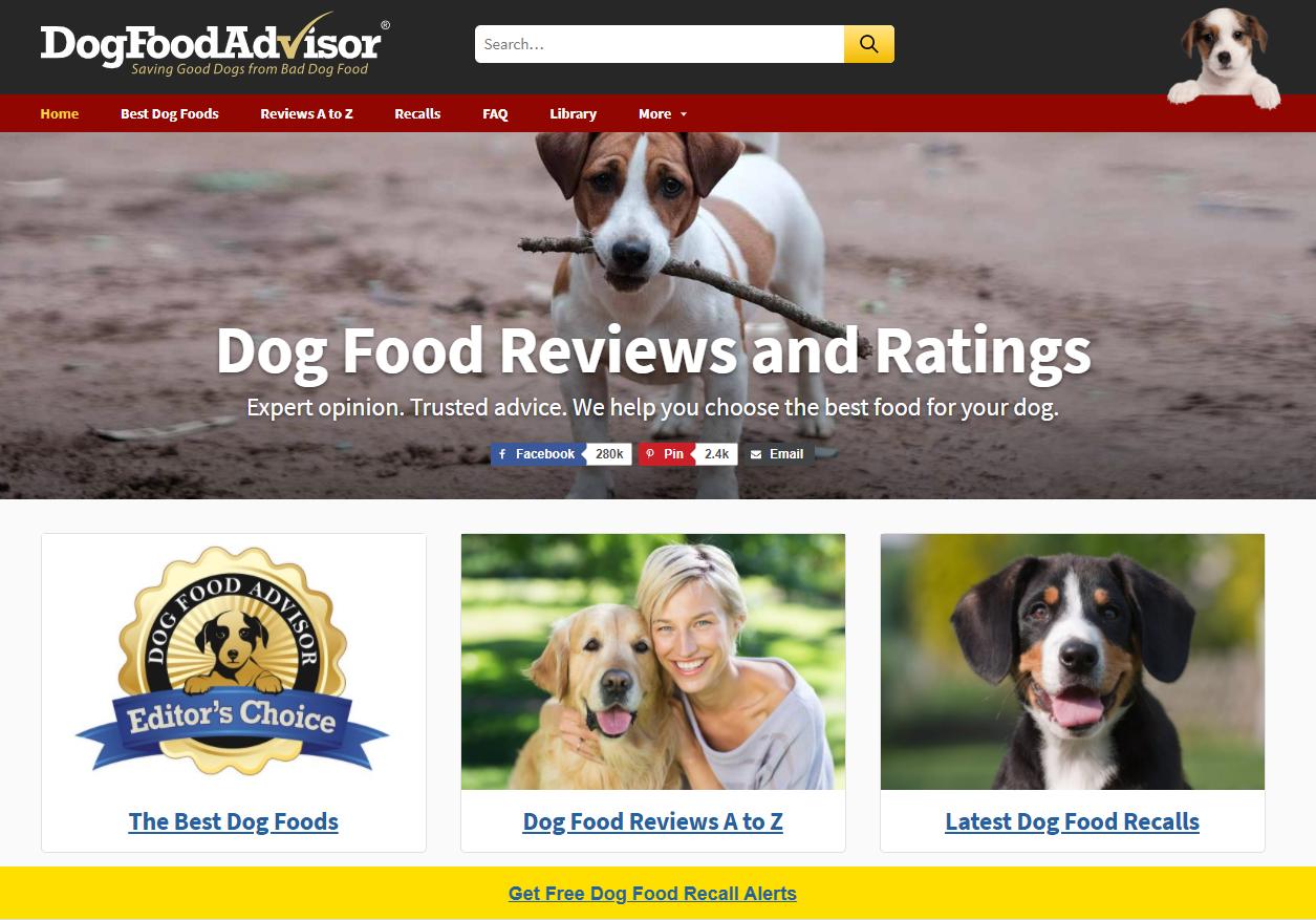 Dog Food Advisor - Affiliate Marketing Blog Example