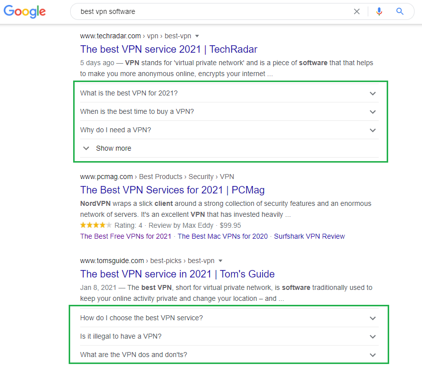 Google search for affiliate marketing Content Research