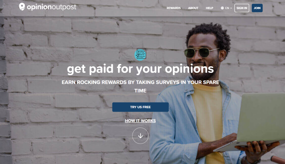 OpinionOutpost - Paying Survey Website