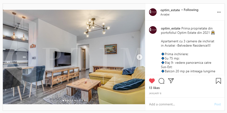 Start a Real Estate Business - Instagram Advertising Example