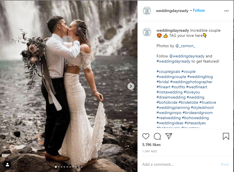 Start a Wedding Planning Business - Instagram Advertising Example