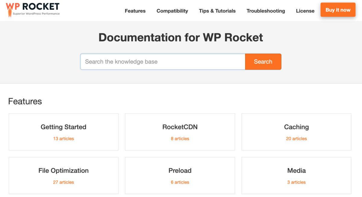 WP Rocket Documentation Hub