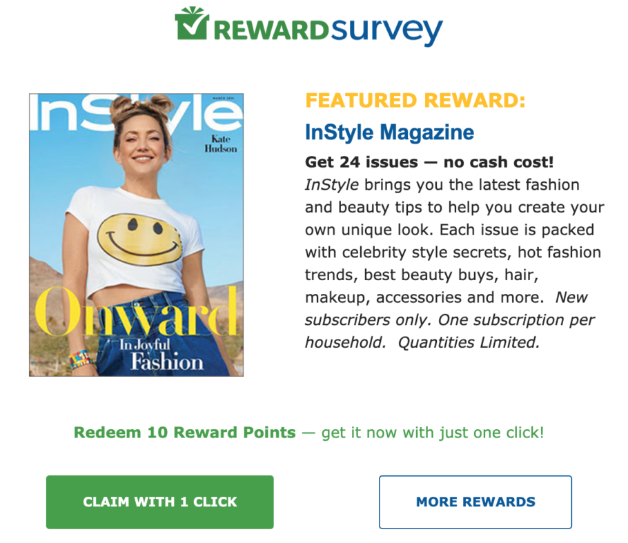 Get a free magazine with just a click