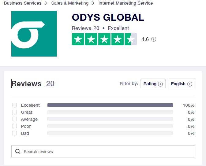 ODYS - TrustPilot Reviews