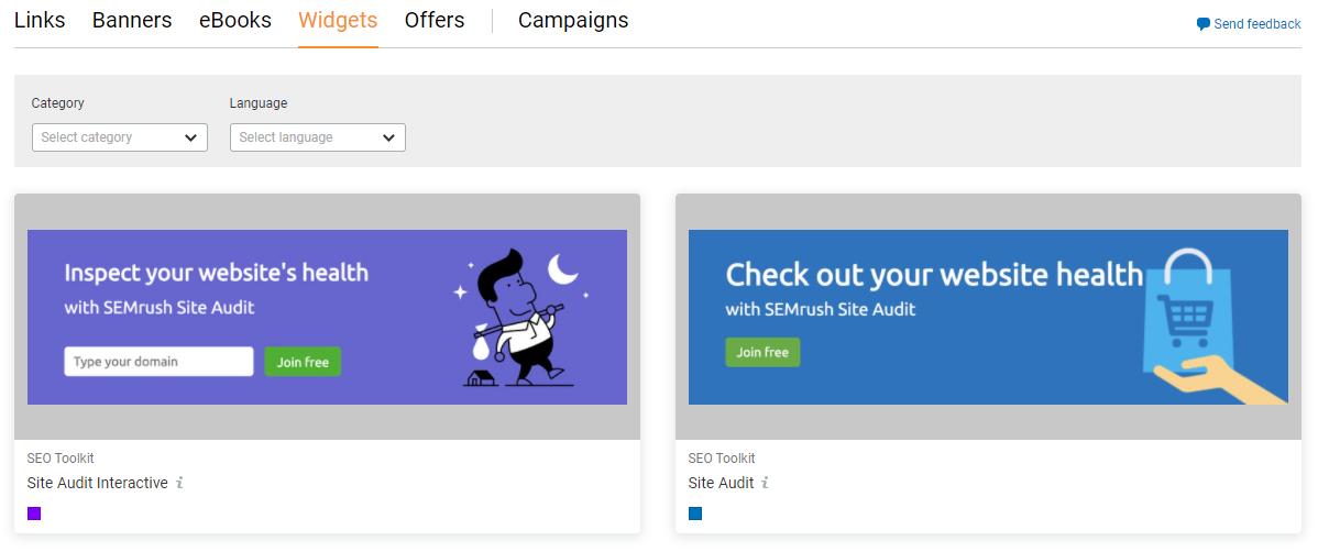 Affiliate Marketing Program - Semrush Creatives