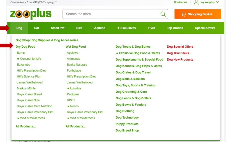 Site structure tips for product page SEO