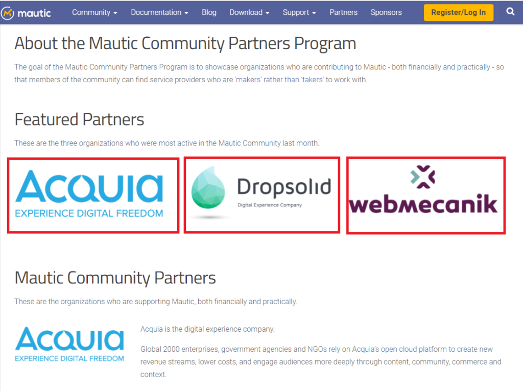Mautic - Partners program