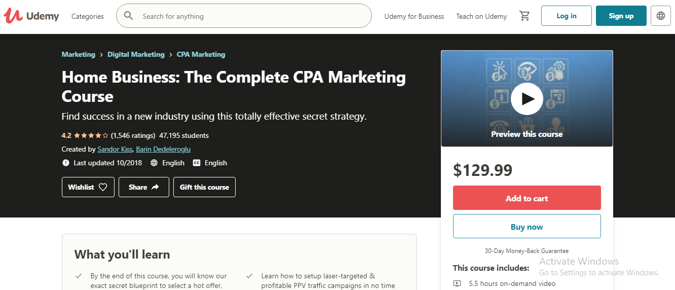 Home Business: The Complete CPA Marketing Course