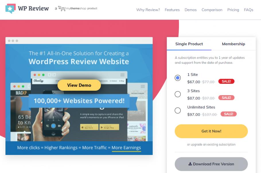WP Review - Affiliate Plugin for WordPress