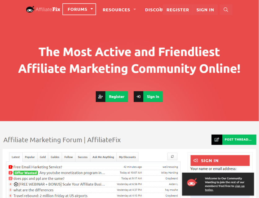 AffiliateFix - Affiliate Marketing Forum