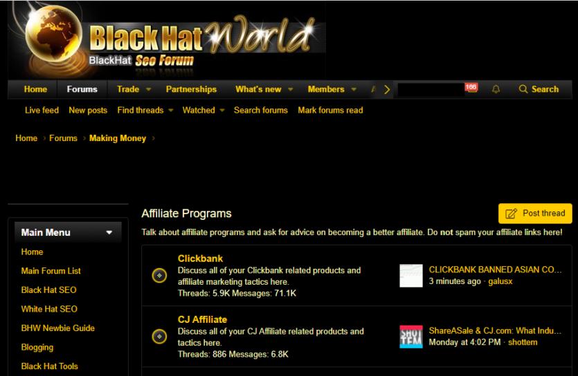 BlackHatWorld - Black Hat SEO Forum