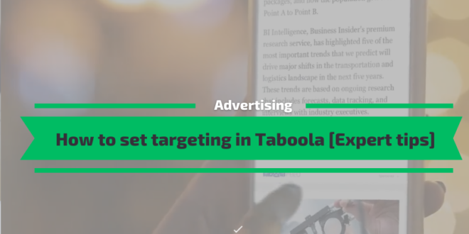 How to set targeting in Taboola