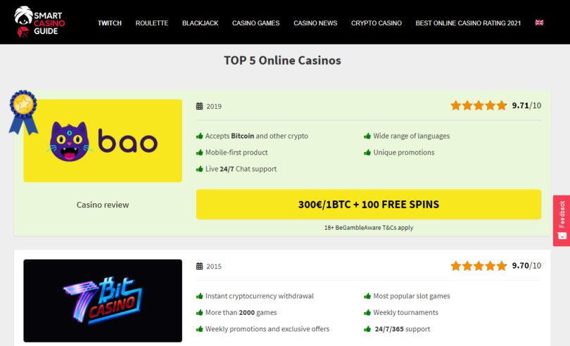 Smart Casino Guide - Casino Reviews Website