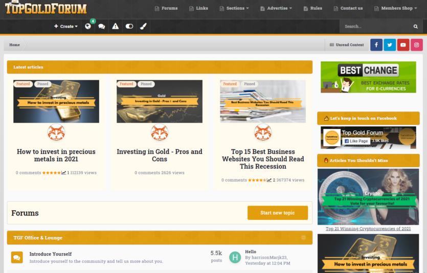TopGoldForum - Affiliate Marketing Forum