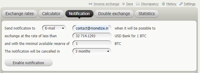 BestChange - Exchangers Notification