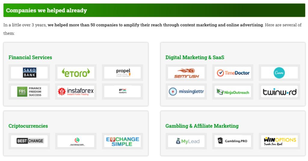 Examples of Brands We Helped