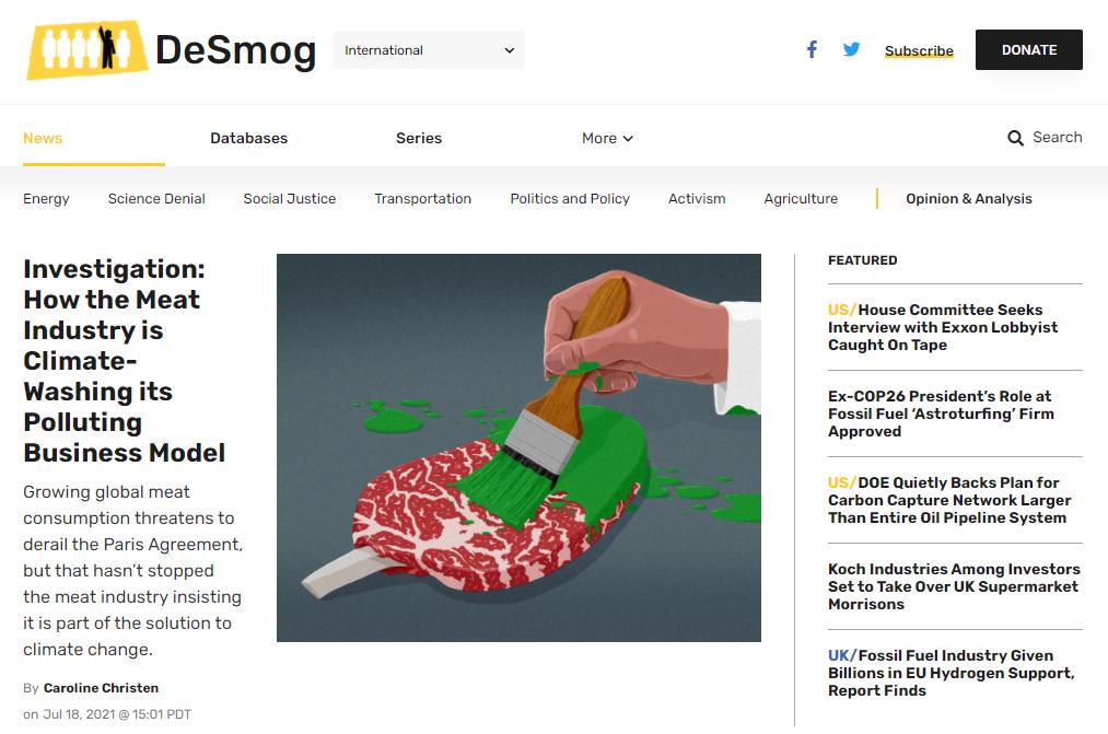 DeSmog - Green Energy Blog niche