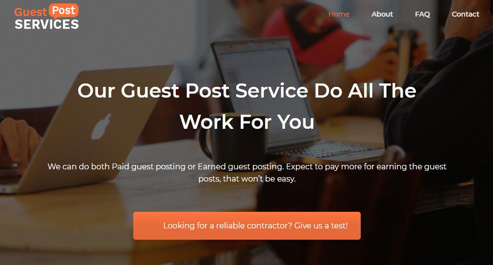 GuestPostServices - Link Building Service