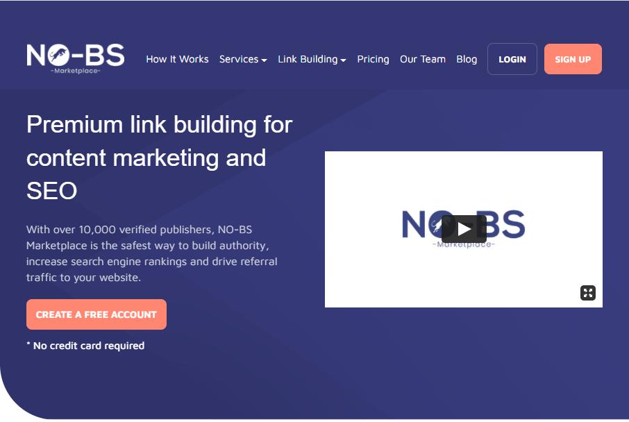 NO-BS Marketplace - Link Building Agency