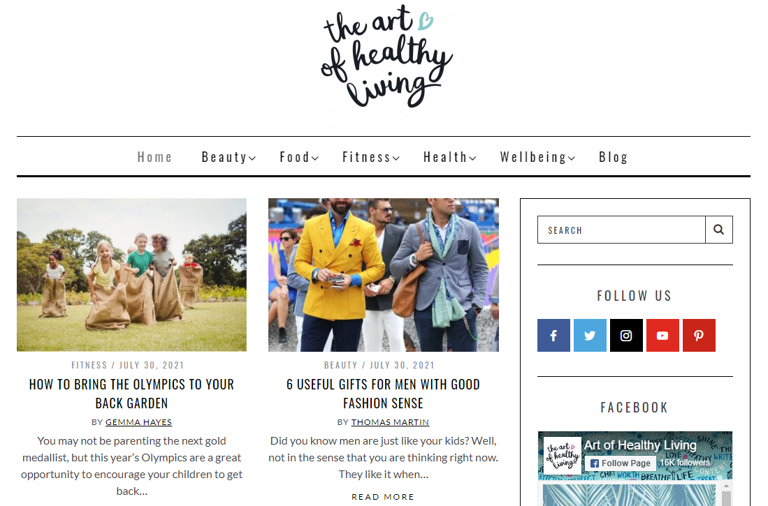 The Art of Healthy Living Blog