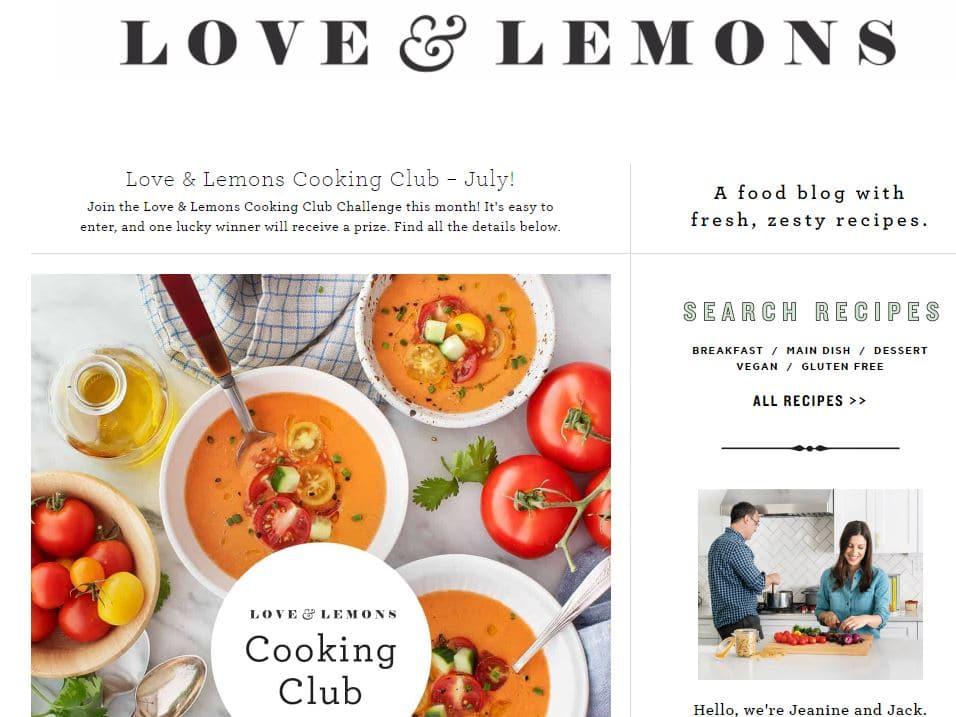 Love & Lemons - Food blog