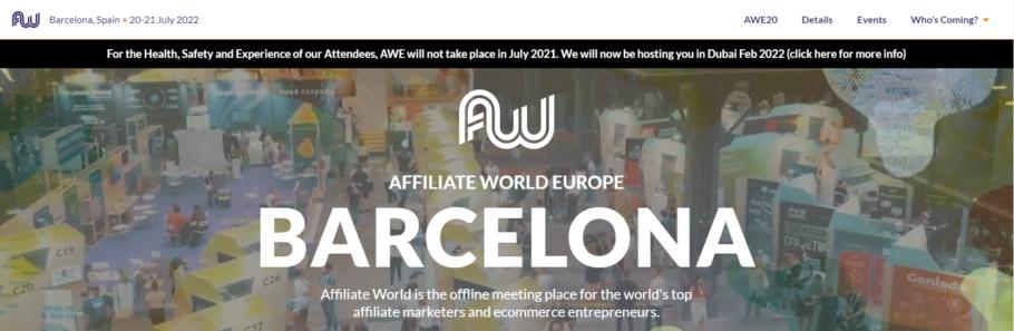 Affiliate World Global Barcelona