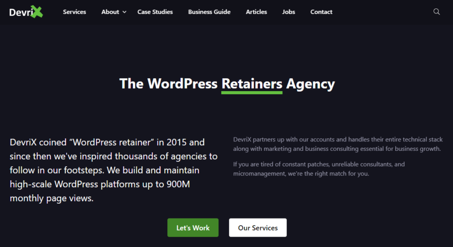 Devrix - Wordpress Maintenance Services