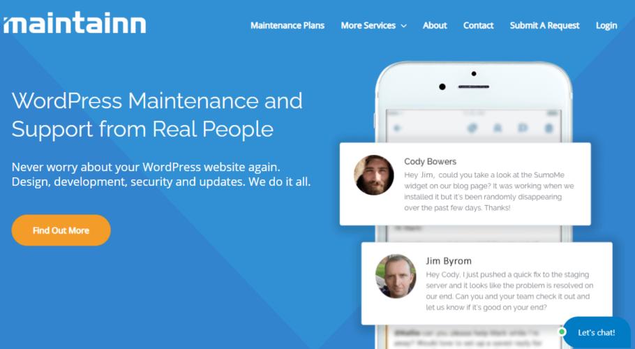 Maintainn - Wordpress Maintenance Services