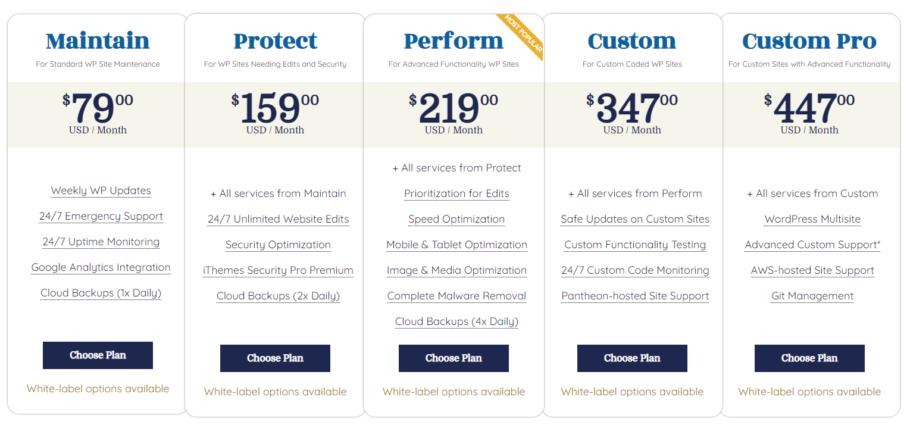 WPBuffs Pricing Plans