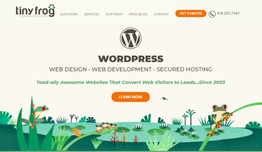 TinyFrog - Wordpress Development Agency