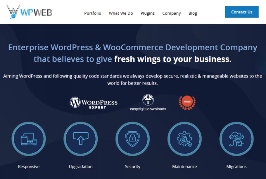 WPWeb - Enterprise WordPress & WooCommerce Development Company