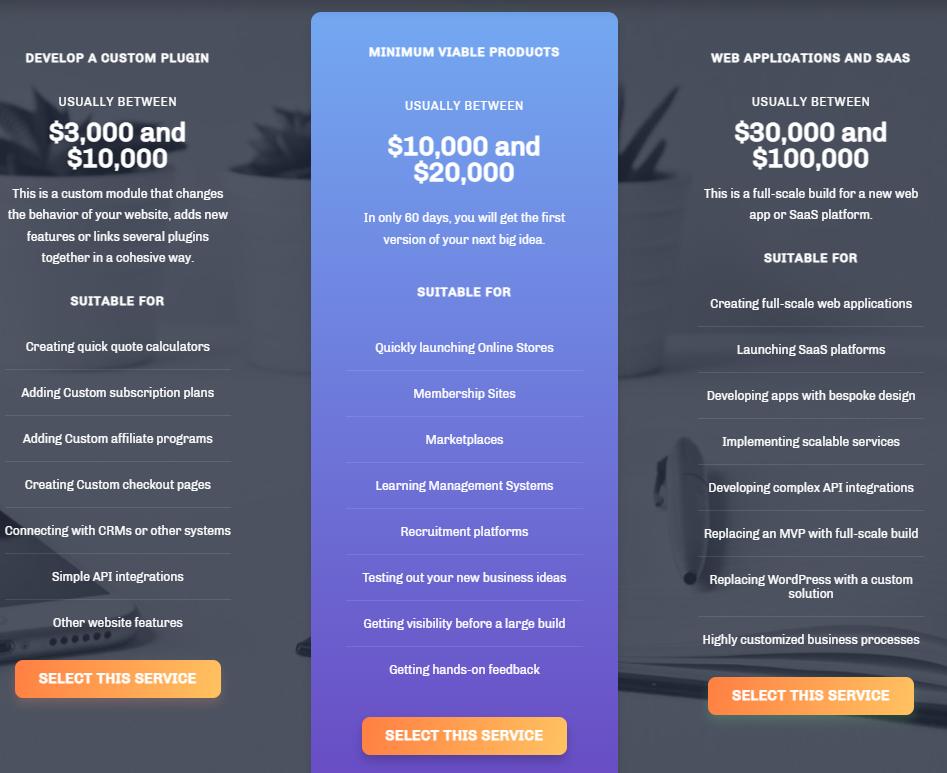 WordPress Development Plans of WPRiders
